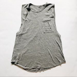 Pure Barre Grey Muscle Tank top size Large
